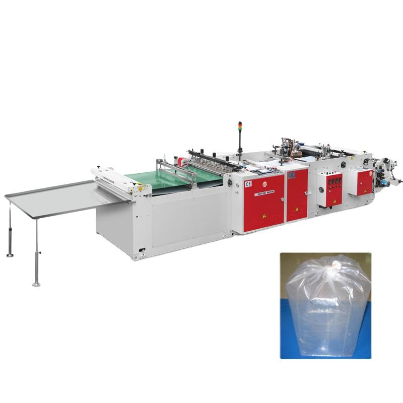 automatic heavy duty big bottom sealing garbage pet food plastic bag machine LDPE cement bag making machine by fly knife system