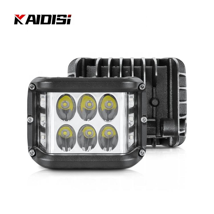 4 inch total reflection side LED work light with flood light combined beam for 4x4 60W double side blue flash cube led work ligh