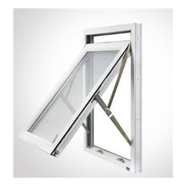 New product PVC/UPVC awning/top hung window with grill design,PVC/UPVC windows and doors