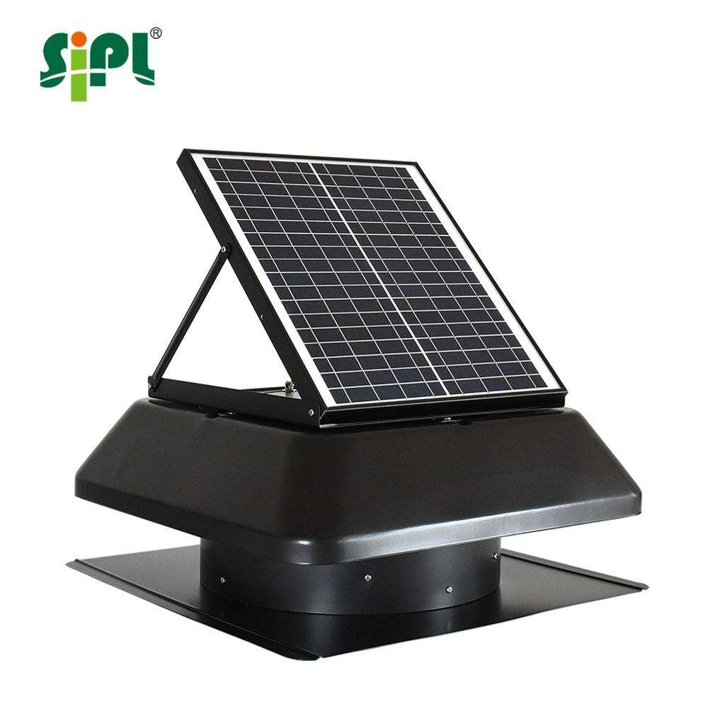 14'' 20W solar turbine roof exhaust fan solar powered attic ventilation DC brushless motor driven active roof vent fan
