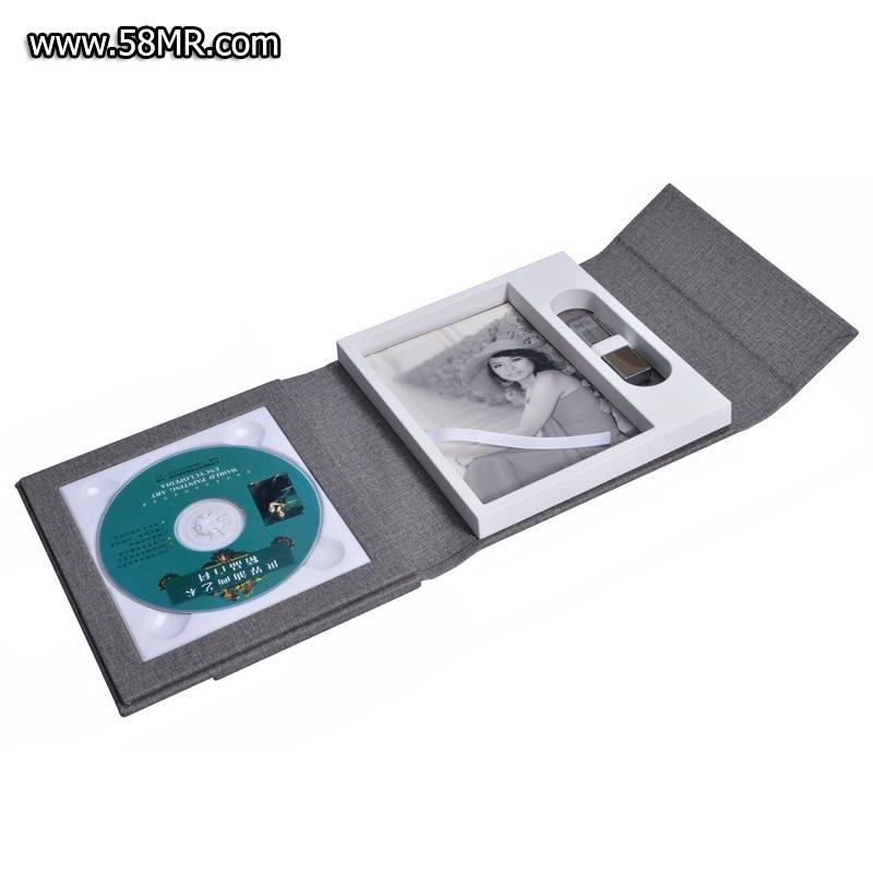 Wedding Fabric Linen print photo DVD USB Case