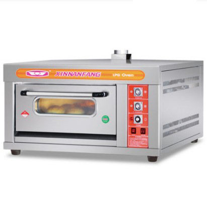 Free Standing Silver Bakery Gas Oven Stainless Steel Portable Pizza Oven