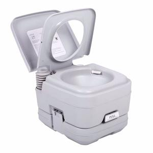 Outdoor Portable Toilet for Camping RV boat yacht caravan 10L Porta Potty with Double Compartments and Flush Mechanism