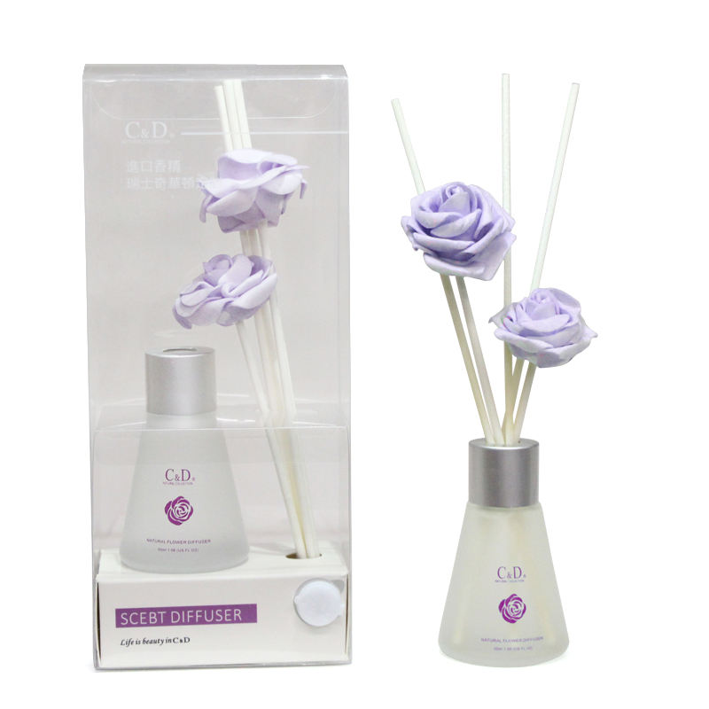 C & D 30ミリリットルCustomizedロゴHousehold卸売Scented Aroma Air Fresheners Incense Bottles Gift Reed Diffuser