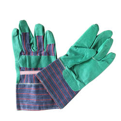 Hantechn working garden gloves with canvas cloth and leather