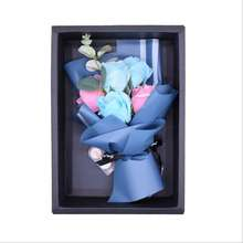 Handmade Soap Flower Rose Artificial Flower Bouquet Gift Box for Teacher Birthday Valentine's Day