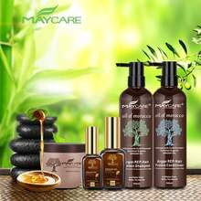OEM organic shampoo with sulfate free argan oil bulk hair shanpoo and hair conditioner set factory direct sales