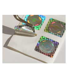 Custom Printed 3D hologram silver pvc stickers labels  shining adhesive hologram sticker