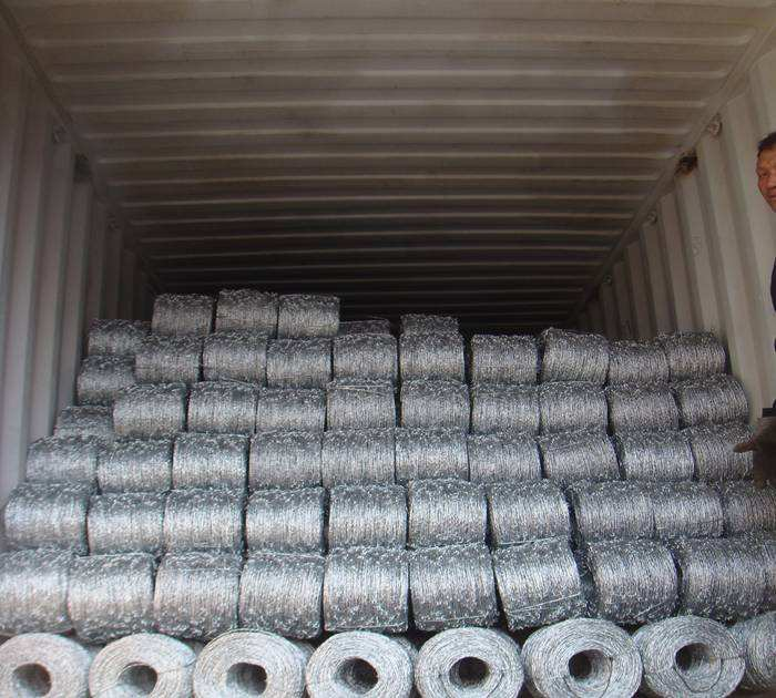 500m roll galvanized barbed wire 5 inch barb distance