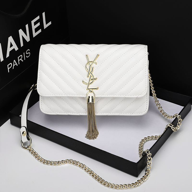2020 new arrival custom luxury ladies purse famous brand name metal chain women handbag
