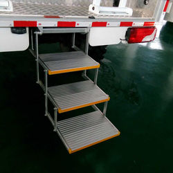 Triple Folding Electric Single Steps For Vehicle Loading 200KG