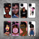 Poppin Melanin Black GIrl Aba Fashion Soft Bumper Phone Case For iPhone 11 Pro 6 5S 8 8Plus X XS Max 7 7Plus XR