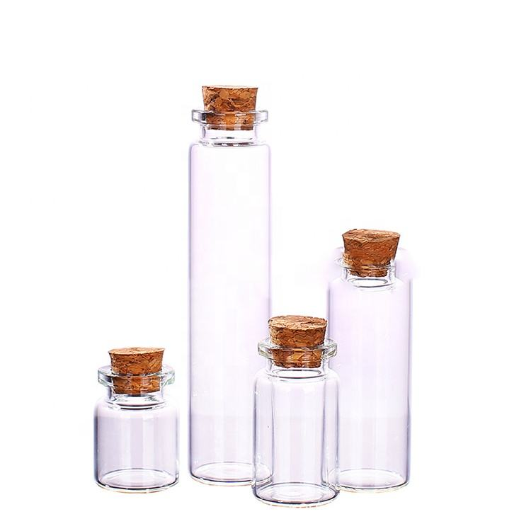 Wholesale 10ml Mini Glass Jars Bottles with Cork Stoppers Bottles