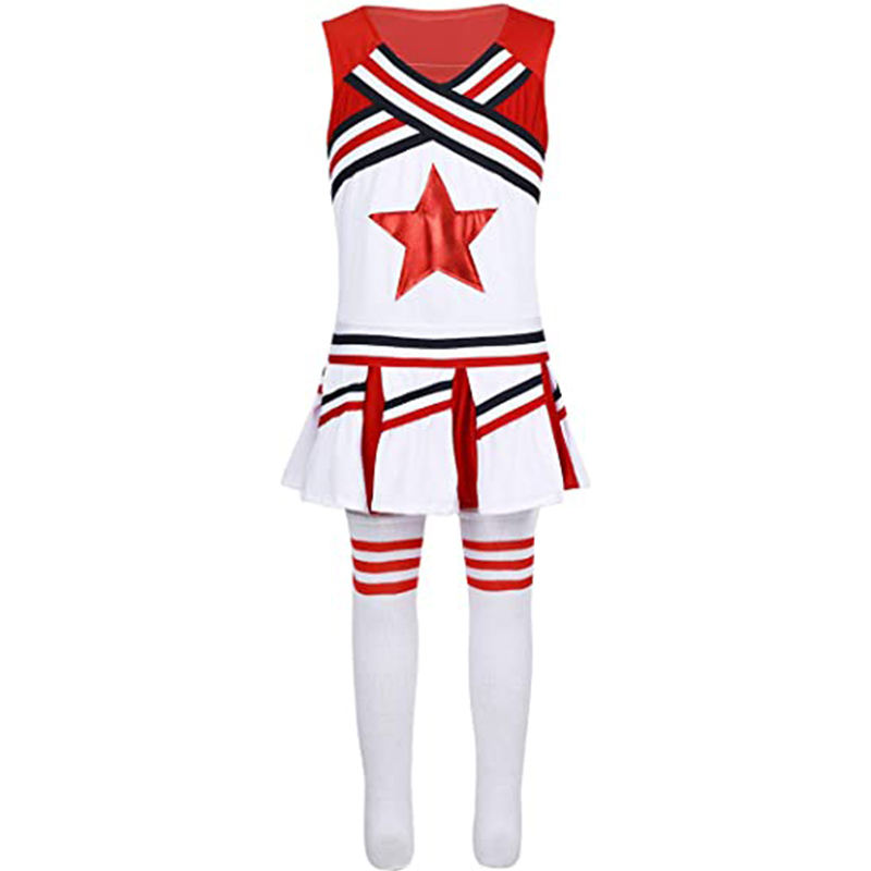 Top Kwaliteit <span class=keywords><strong>Cheerleading</strong></span> Uniformen Sublimatie Meisjes Cheerleader Team Uniform Set Hot Comfortabele Cheer Dance Uniformen