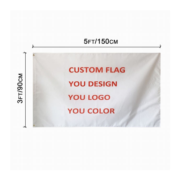 150*90cm 100%polyester custom design print your logo banner flag