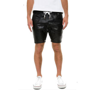 MENS GAY FETISH SOFT REAL SHEEP LEATHER SHORTS CLUBWEAR GYM BOXER SHORT SPORTS