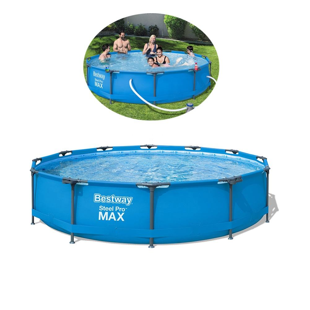 "Bestway 56416 12FT 12'x30"" Steel Frame outdoor PVC Swimming Pool for children & adults"
