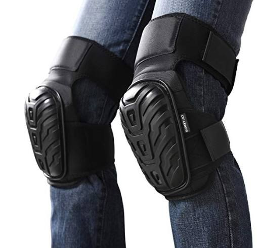Knee Pads for Work for Heavy Duty Foam Padding, Comfortable Gel Cushion and Strong Double Stra