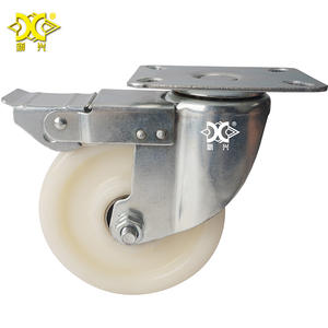 medical wheel compact heavy duty castors with brake