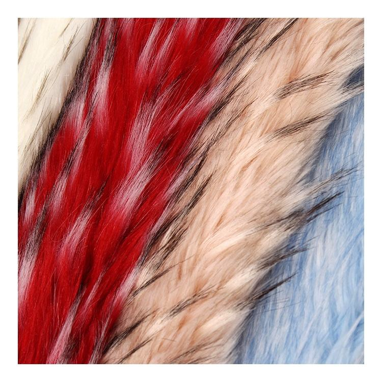 Factory Directly Wholesale 100% Polyester Long Pile Faux Raccoon Fur Fabric