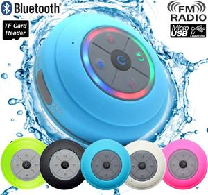 Mini Portable Wireless Subwoofer Car Handsfree Receive Call Music Suction LED Light Shower Waterproof Bluetooth Speaker