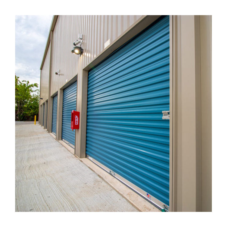 Cheap automatic steel imported motor rolling shutter door for store