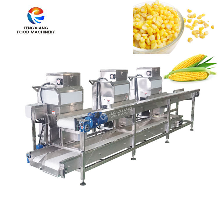 Commercial Maize Thresher Fresh Corn Peeling Thresher Sweet Corn Peeling Machine Line