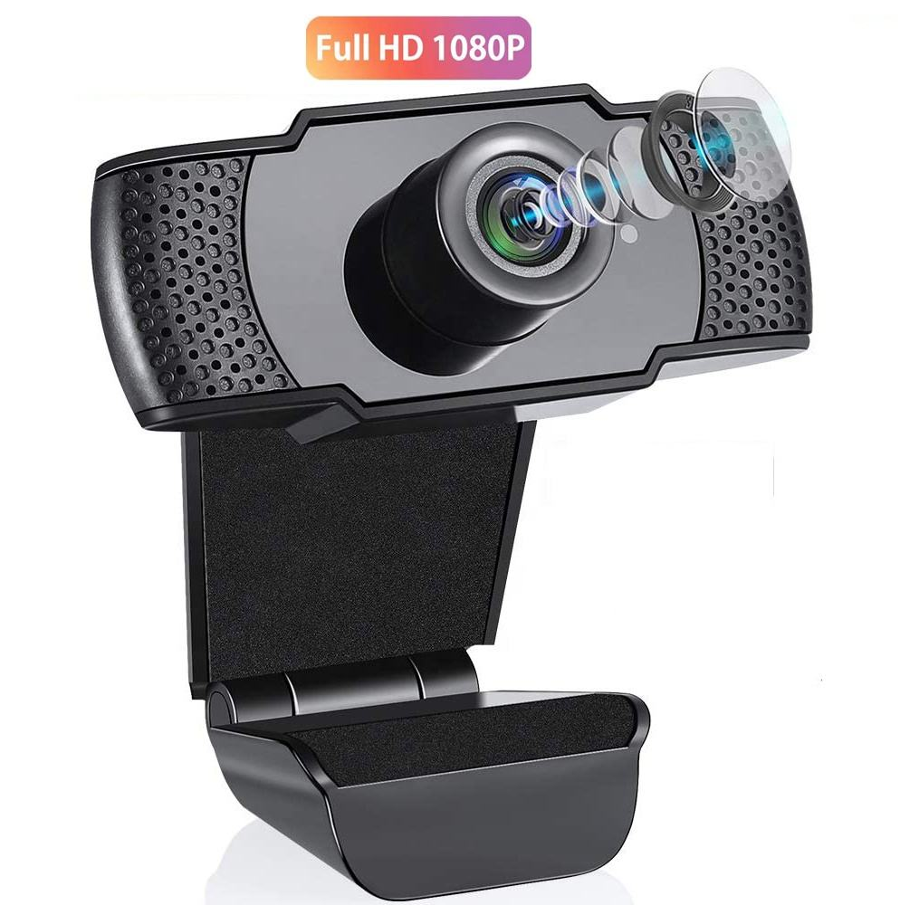 Amazon Best Sale Webcam 1080p Camera with Microphone, AutoFocus Dual Noise Reduction, Full HD USB Webcam Camera for YouTube