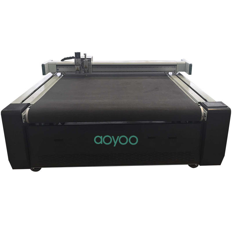 AOYOO computer controlled fabric cutting machine round fabric cutting machine