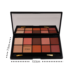 Classical 10 Color Makeup Eyeshadow Palette with customized logo