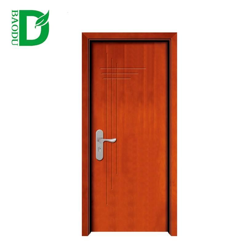 Wooden Color PVC Interior Decoration Acoustic Solid Wooden Door
