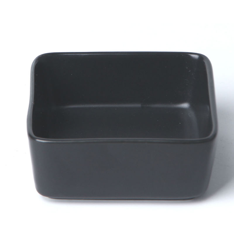 Factory Direct Square Ceramic Salad Bowl With Wooden Pallets