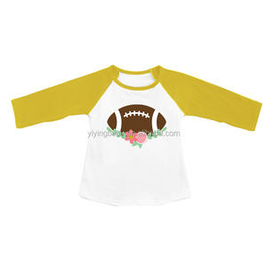 Casual Sport Pattern Clothing For Kids Raglan Long Sleeve Baby T-shirt Cotton Wholesale Clothing