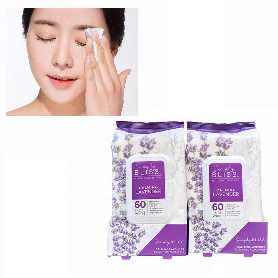 Make up remover free samples daily cleansing wipes Custom New Style scented adult facial wipes private label