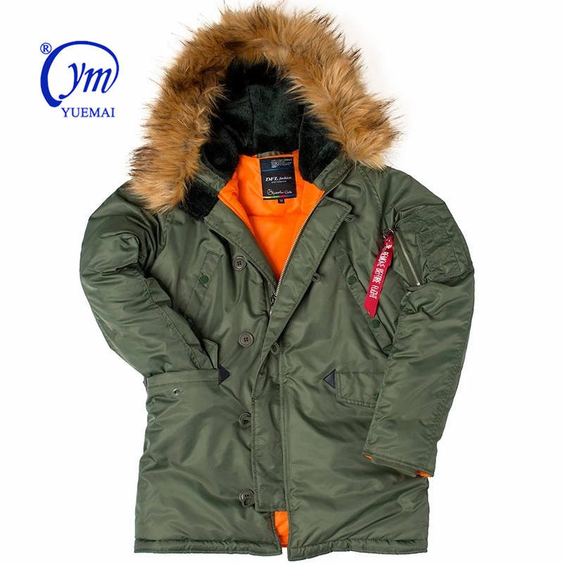 n3b fur hooded thick warm mens winter military parka russian winter coat Winter puffer jacket men long canada JACKET YUEMAI