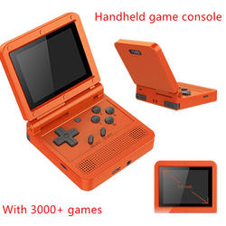 POWKIDDY V90 3.0 inch IPS Handheld Game Player PS1 N64 Retro Game Console Open System Kids Gift Video Gaming Players Consoles