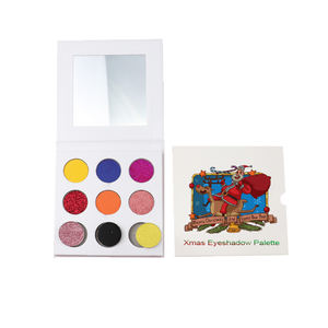 cosmetics vendors private label 9colors eyeshadow palette glitter pigmented organic eyeshadow makeup