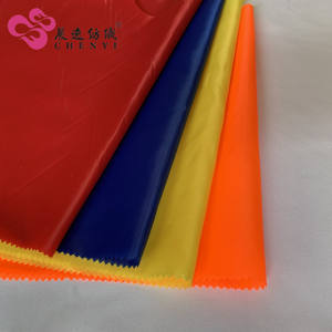 Yarn count 63D*63D red taffeta fabric