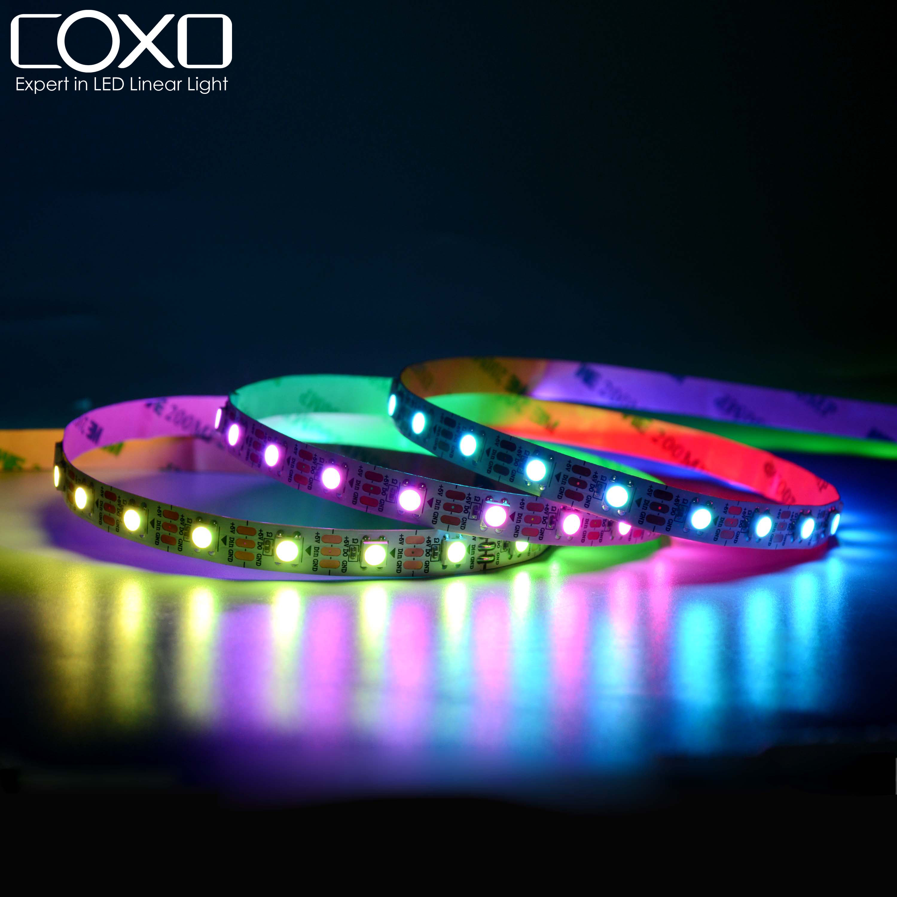 Dream Color 2812b Smart digital addressable 5V Pixel Light 300 ws2812b led strip