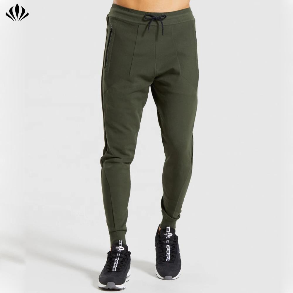 Groothandel Tapered Ontwerp Sportkleding 100% Nylon Slim Fit Mens Jogger Broek Custom Rits Pocket Joggingbroek