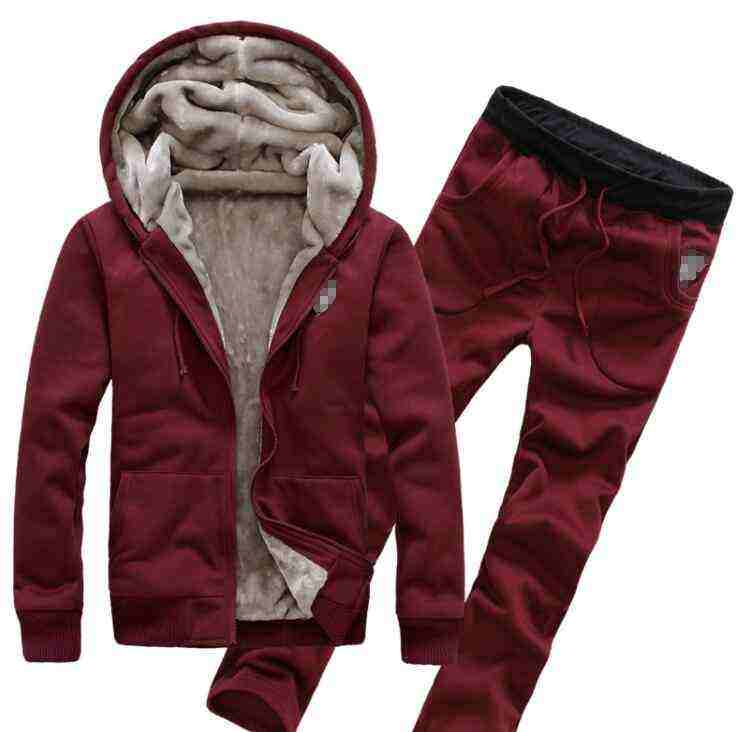 Wholesale Winter Hot Shirt Jacket T-Shirt Jacket Men's Hooded Cardigan Long-Sleeve Slim Jacket Set
