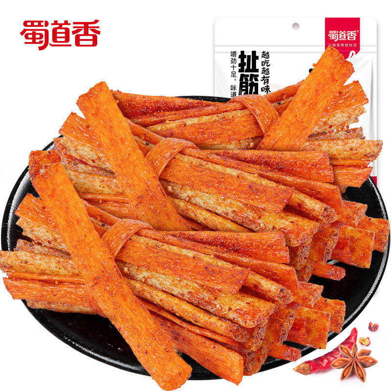 ShuDaoXiang Latiao Spicy Strip With Tendon 100g OEM Products Dried Tendon Snack Food China Wholesale Spicy Strip