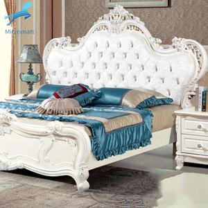 Bedroom Set Furniture Frame Double King Modern Wood Luxury Bed