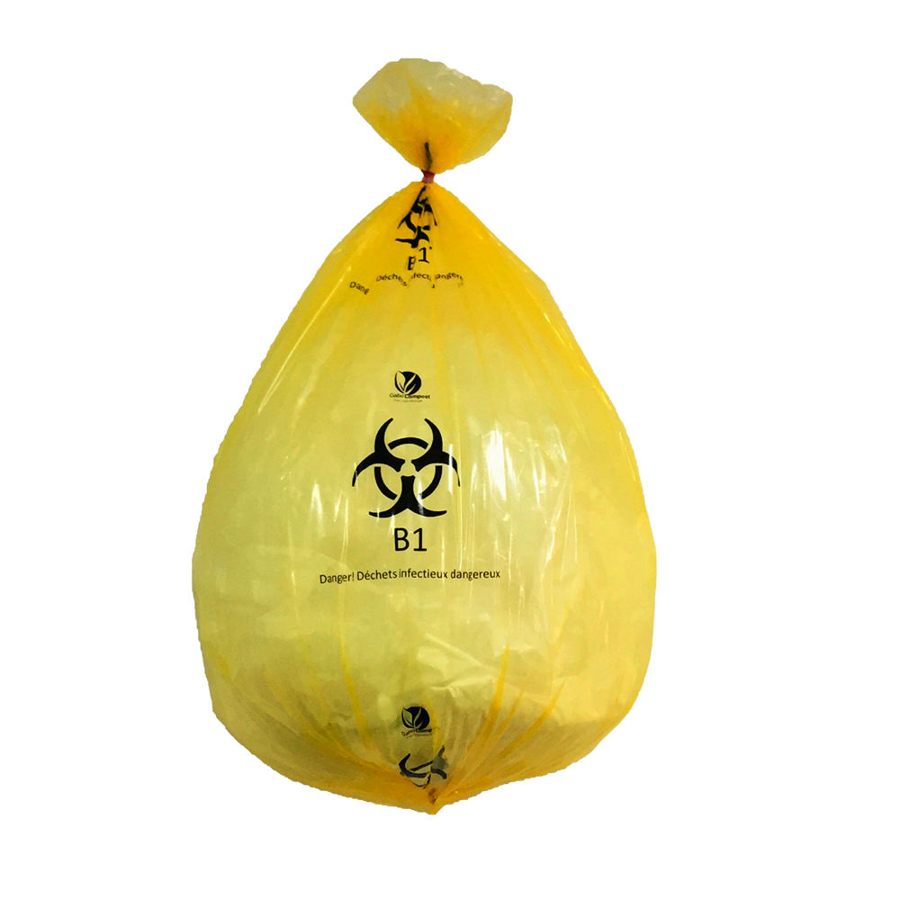 Factory Supplier Yellow Biohazard Disposable Waste Bag for Medical infectious waste