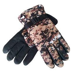 Men's camouflage mitten, waterproof and velvet thickened warmth, winter riding ski cotton mitten
