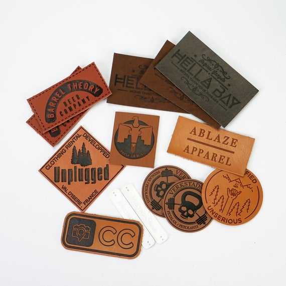 Custom jeans handmade embossed genuine leather clothing printed logo labels tag patches for garment