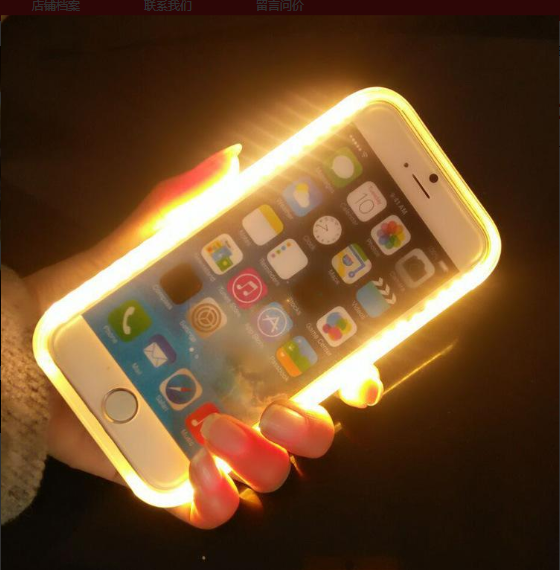 For Iphone Case Cover LED Selfie Light Cell Phone Accessories