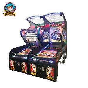 Pretpark muntautomaat elektronische arcade basketbal arcade game machine