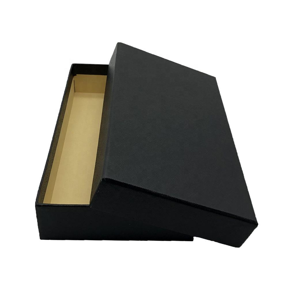 Customized Black Kraft Paper White Beauty Wallet Box Gloss Packaging Luxury Paper