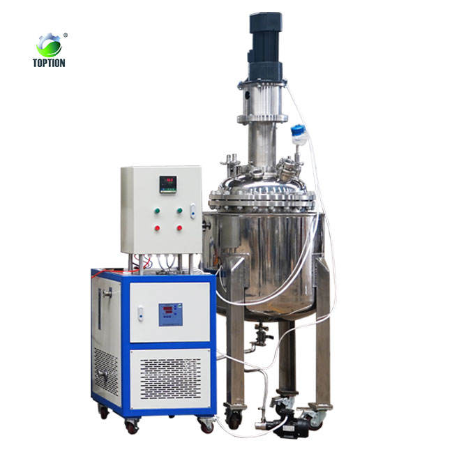New design stainless steel Jacketed reaction vessel 100L